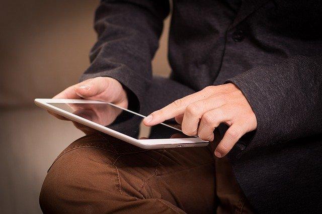 Hledání na tabletu