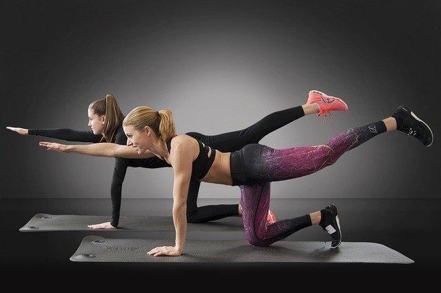 společné cvičení, pohyb